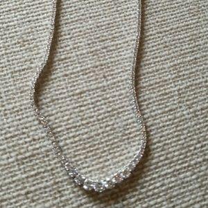 💕Sterling silver. 925 Diamond CZ necklace